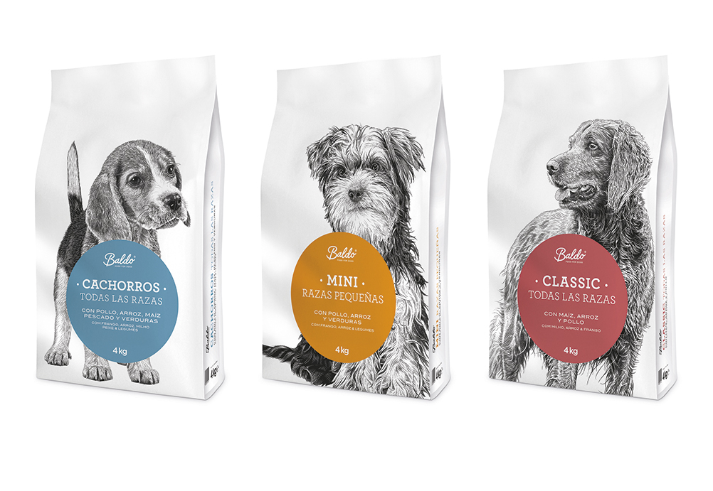Baldo, dog food range