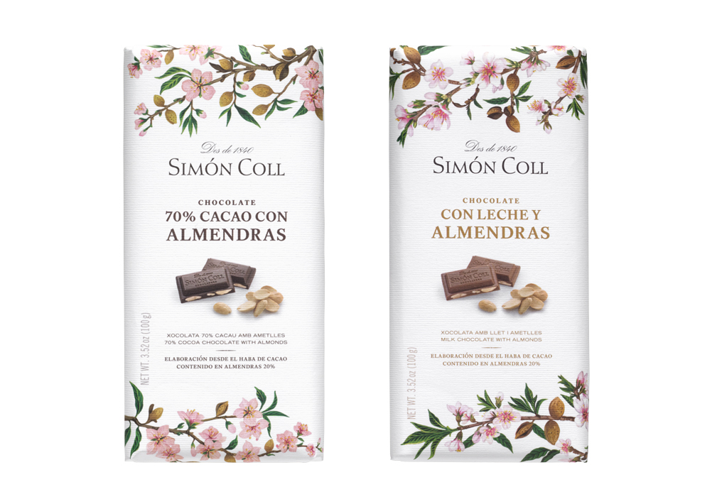 Chocolate Bars with Whole Almonds